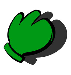 work glove icon icon cartoon vector image