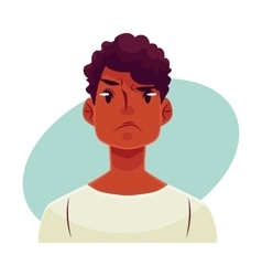 Young african man face angry facial expression vector image vector image