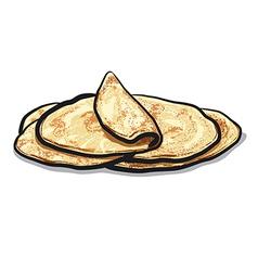 bread pita vector image