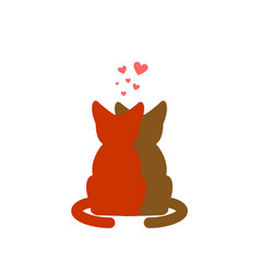 cat lovers embrace pet lover cuddle romantic date vector image