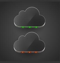 cloud technology computing concept led cloud vector image vector image