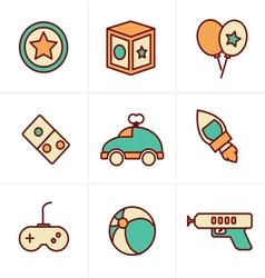Icons Style Icons Style toy icons mono symbols vector image