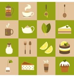 Tea icons set vector image vector image