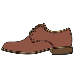 Brown leather shoe vector image