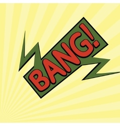 cartoon bang2-12 vector image vector image