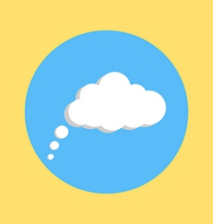 communication cloud on yellow blue background vector image vector image