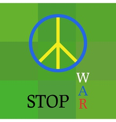Peace template about war aggression vector