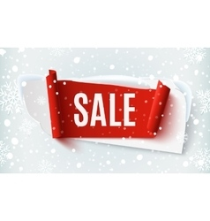 Sale abstract banner on winter background vector image vector image