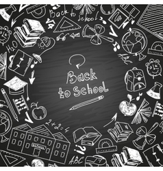 Back to school freehand drawing school subjects vector image vector image