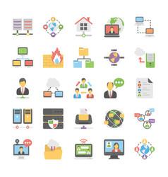 cloud computing icons set 5 vector image vector image
