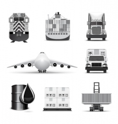 logistic icons | bw series vector image vector image
