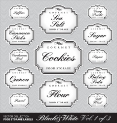 ornate food storage labels vol1 vector image vector image