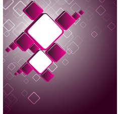 Abstract pink square background vector image vector image