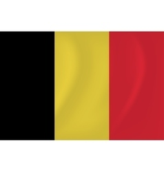 Belgium waving flag vector image