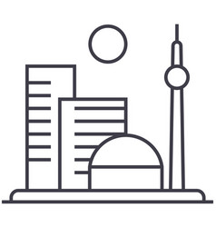 big city line icon sign on vector image