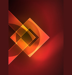 glowing squares in the dark digital abstract vector image