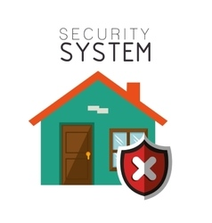 security system house smart design vector image