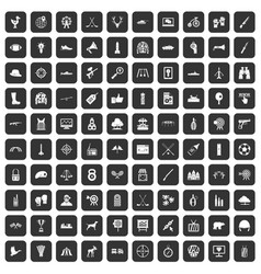 100 target icons set black vector