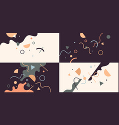 a set abstract design backgrounds vector image