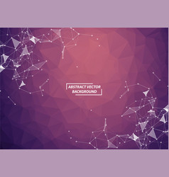 abstract geometric dark purple polygonal vector image