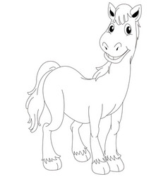 Animal outline for horse standing vector