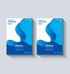 Annual report design layout flyer template vector