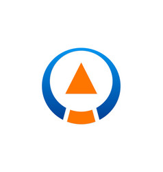 Arrow abstract round technology logo vector