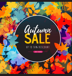 autumn big sale watercolor poster vector image