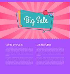 Big sale gift for everyone limited proposal vector