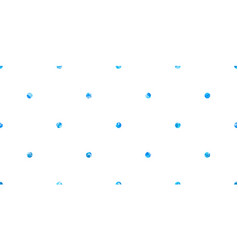 Blue painted small dots pattern vector