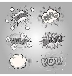 Boom Comic book explosion set vector