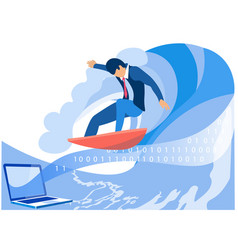 Business metaphor database analysis development vector