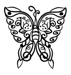 butterfly drawing on white background vector image