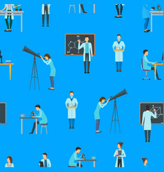 cartoon biologists chemists and physicists vector image