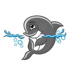 cartoon dolphin vector image
