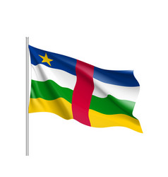 Central african republic realistic flag vector
