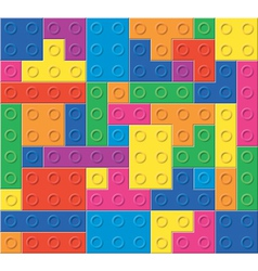 Colorful plastic blocks vector