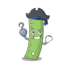 Cool and funny ruler cartoon style wearing hat vector