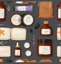 Cosmetics spa branding pack mockup natural body vector