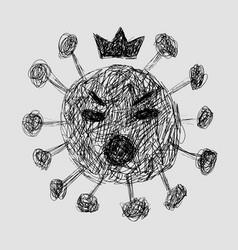 covid19-19 continuous line symbol concept vector image