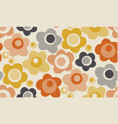 creative vintage stylized floral pattern vector image