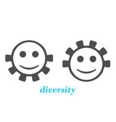 diversity between humans metaphor vector image