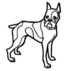 dog coloring page with white background vector image