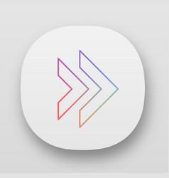Double arrow app icon rewinding button navigation vector