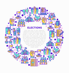 election and voting concept in circle vector image