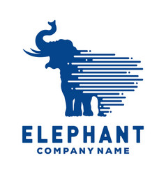 elephant logo template vector image