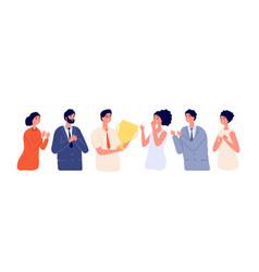 Employee congratulation emotional greeting vector