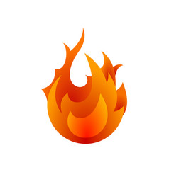 fire icon for design fire icon object icon vector image