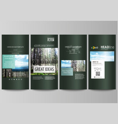 Flyers set modern banners cover design template vector