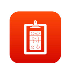 game plan icon digital red vector image